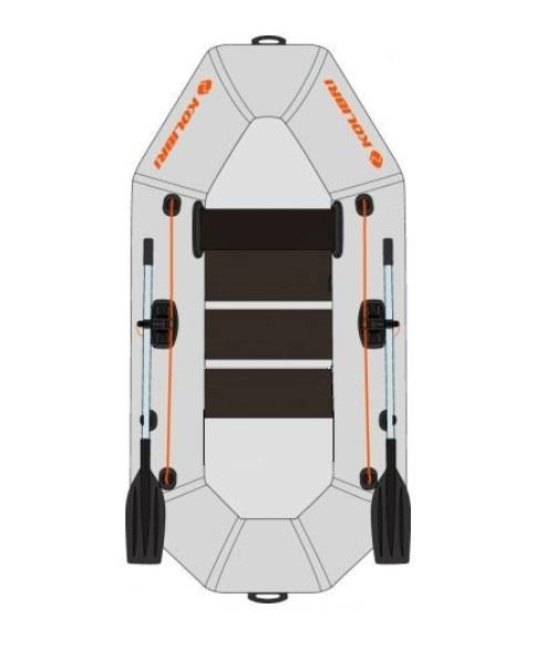 KOLIBRI K-220 nafukovací čln s lamelovou podlahou - sivý