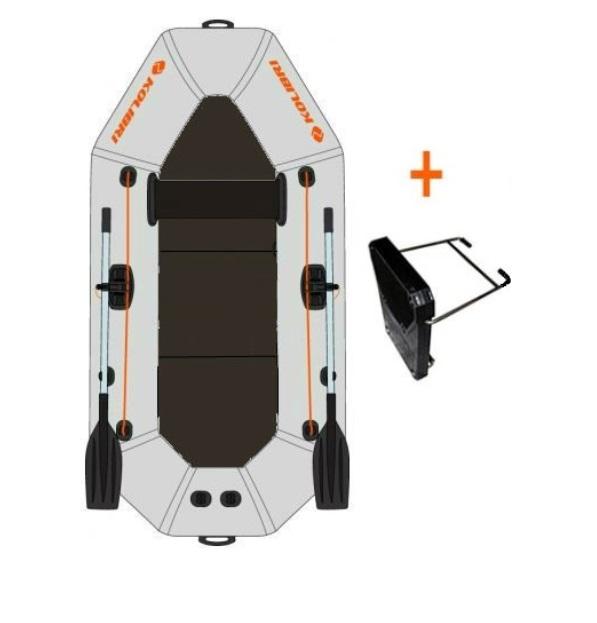 KOLIBRI K-240TP nafukovací čln s pevnou podlahou + držiak motora