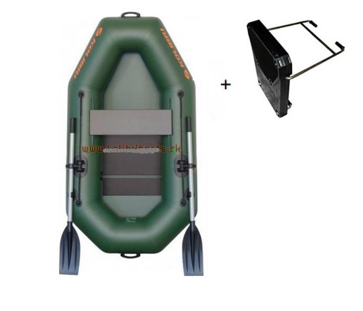 KOLIBRI K-240T nafukovací čln s lamel. podlahou + držiak motora