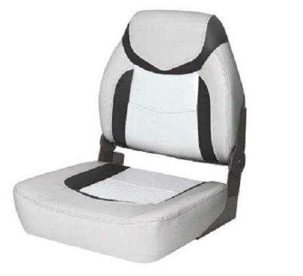 Polstrované  sedadlo PREMIUM FISHERMAN - sivo/antrazitovo/biele