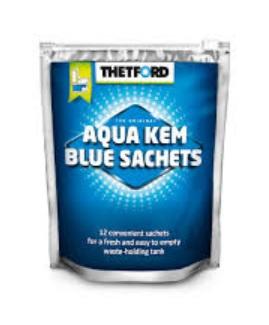 THETFORD AQUA KEM BLUE SACHETS pre odpadovú nádrž - 360g